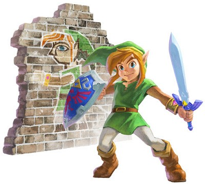 Link merges into a wall