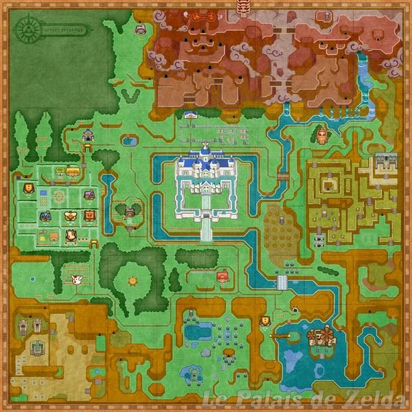 Link Between Worlds Map Hyrule map of A Link Between Worlds   Zelda's Palace