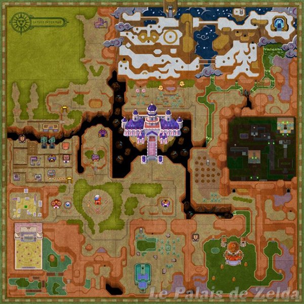 Link Between Worlds Map Lorule map of A Link Between Worlds   Zelda's Palace