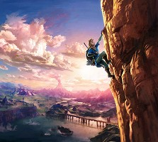 Link is climing in Breath of the Wild