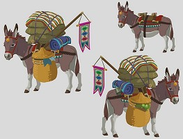 Carrier donkeys in Breath of the Wild
