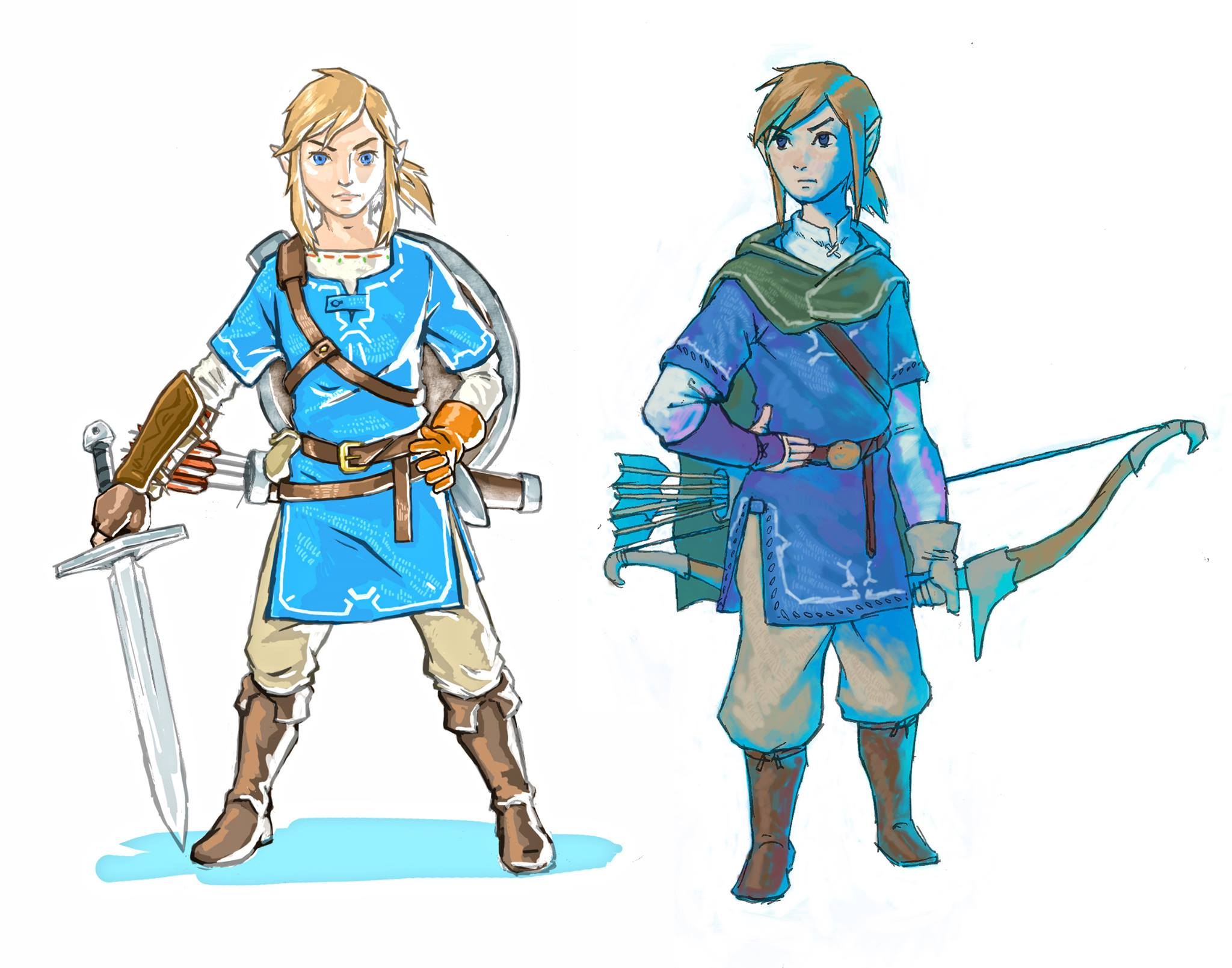Breath Of The Wild Artworks Sketches Zelda S Palace