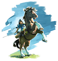 Link and Epona Breath of the Wild