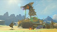 Link in a makeshift camp in Breath of the Wild