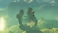 Link is hang-gliding in Breath of the Wild