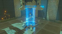 Link about to get into a shrine in Breath of the Wild