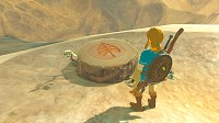 Link near some kind of weird stump in Breath of the Wild