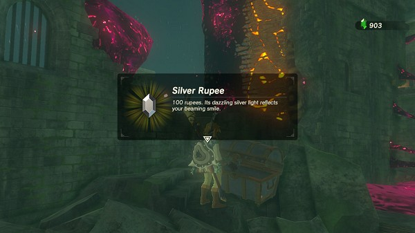 a silver rupee in Akkala Breath of the Wild