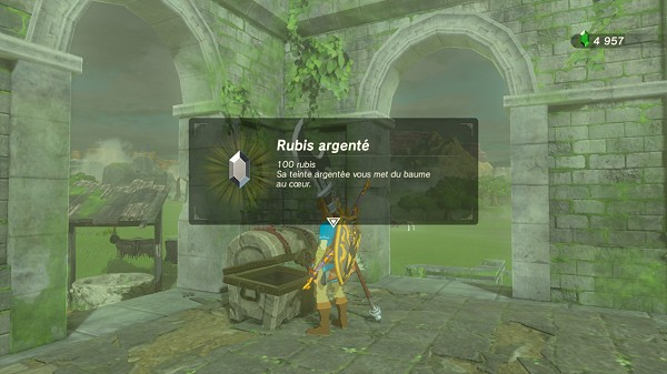 a silver rupee in Central Hyrule Breath of the Wild