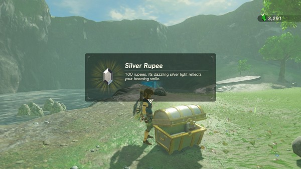 silver rupee to get out of the water Breath of the Wild