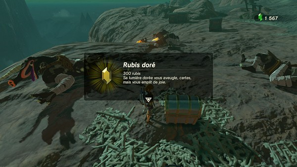 golden rupee in Eldin Breath of the Wild