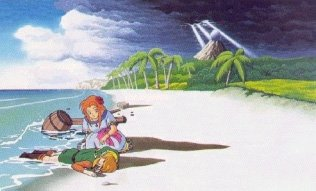 Marin finds Link in Link's Awakening