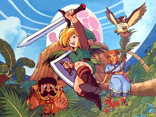 the heroes of Link's Awakening