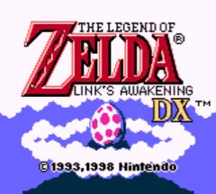 Start screen Link's Awakening
