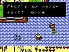 the mermaid lost her pink bra or necklace in Link's Awakening