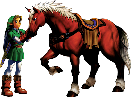 Link and Epona Ocarina of Time