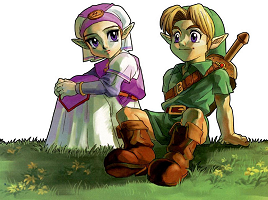 Link and Zelda Ocarina of Time
