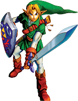 Link is striking Ocarina of Time