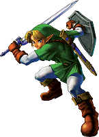 Link is fighting Ocarina of Time