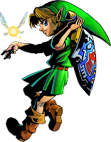 Link taking his sword Ocarina of Time