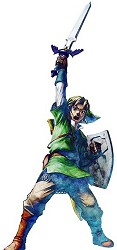Link performing the Skyward Strike in Skyward Sword