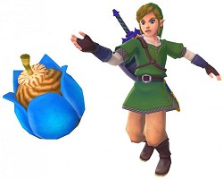Link throwing a bomb