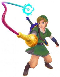 Link using the whip