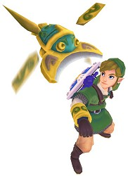 Link lanching the beetle