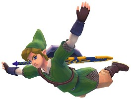 Link is flying