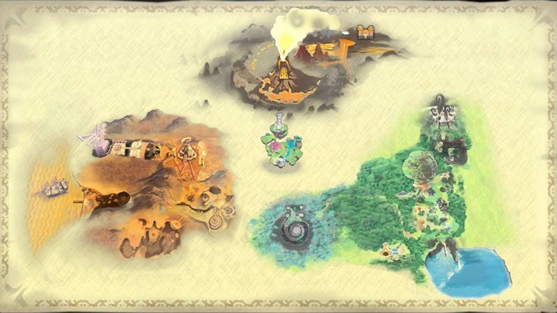 map of the surface Skyward Sword