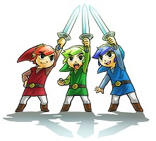 3 Link and 3 swords