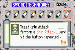 Great Spin Attack The Minish Cap