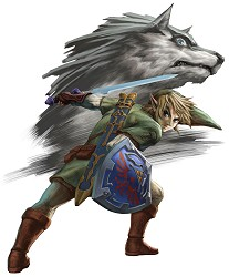 Link and his wolf form