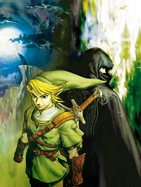 Link and a stranger in Twilight Princess