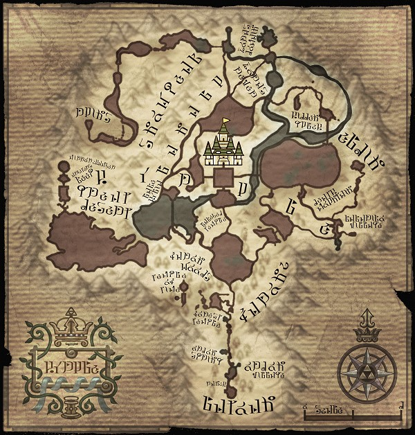 map of Hyrule Twilight Princess