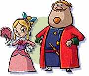 Mila and her father The Wind Waker